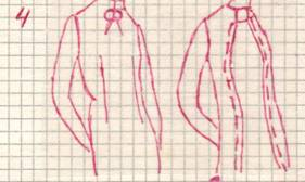 фасон перемещения нагрудной вытачкина вершину средней линии полы