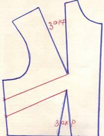 чертеж на линию бокового среза