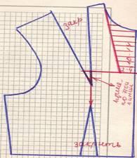 чертеж на линии подреза