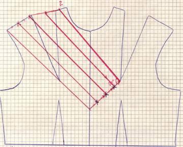 в драпировку на правом плече