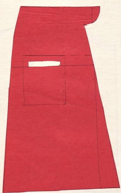 крой юбки 4-х шовная с прорезным карманом
