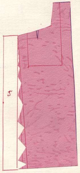 крой2 юбки с карманами и складками от кармана