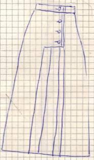 фасон2 юбки с карманами и складками от кармана