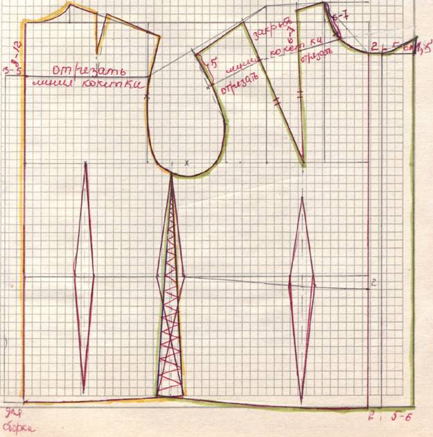 Описание: Выкройка-основа блузки