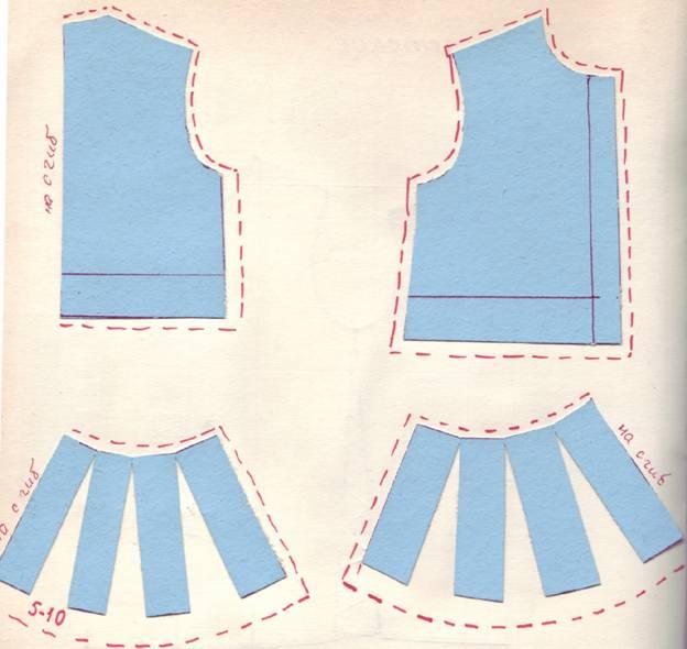 Выкройка платья-сарафана отрезного по линии талии подойдет для девочек Выкройка детского нарядного платья с пышной