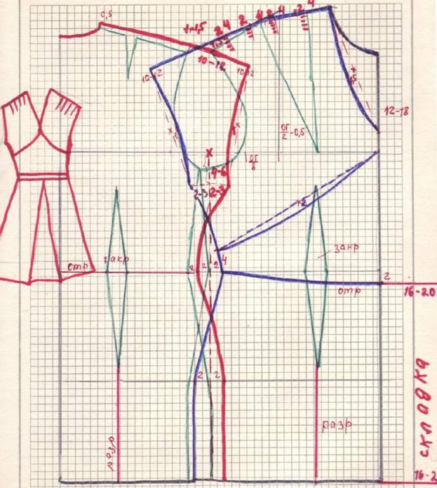 Крой платья с мягкими складками от плеча.