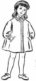 Фасон детского пальто для девочки