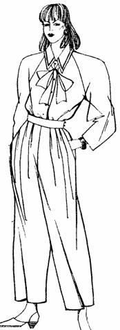 модель широких свободных брюк прямого силуэта с мягкими складками от пояса