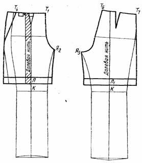 """чертеж брюк типа """" бермуды"""""""