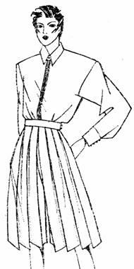модель юбки-брюки