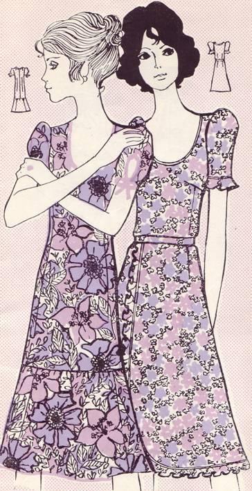 Фасон летнего платья из х/б ткани
