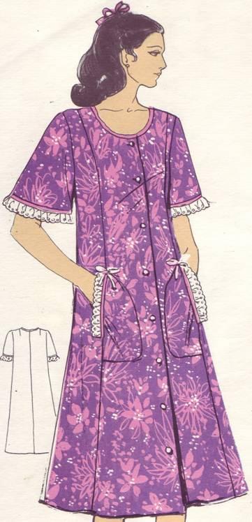 фасон платья- халата силуэта трапеция