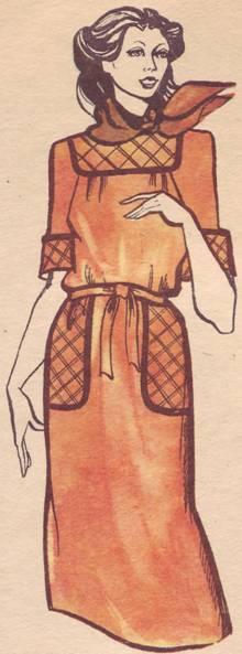 Цельнокроенное платье
