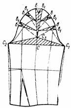чертеж рукава со складками по окату