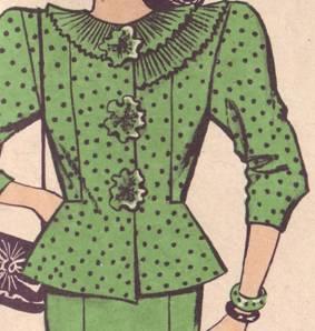 костюм: жакет и юбка