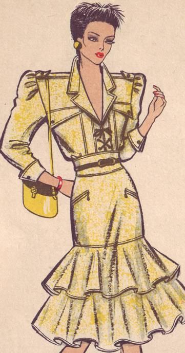 платье прилегающего силуэта с воланами