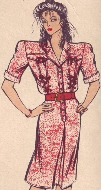 платье полуприлегающего силуэта с выкройкой