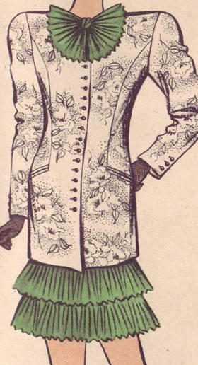 жакет и платье полуприлагающего силуэта