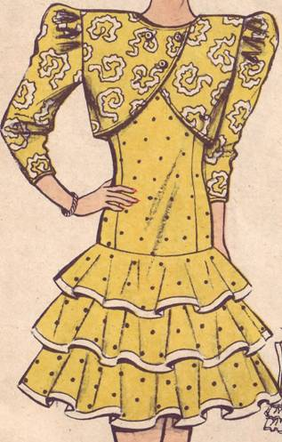 комплект платье и жилет платье с воланами