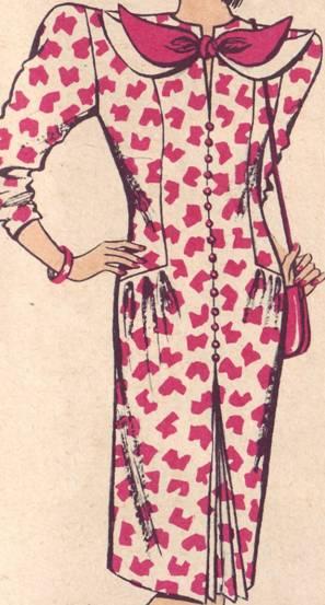 фасон платья полуприлегающего силуэта