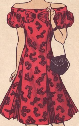 фасон платья с рукавом- фонарик