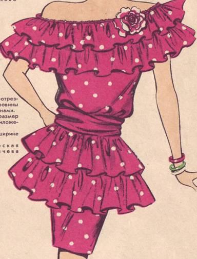 вяжем оборку для платья