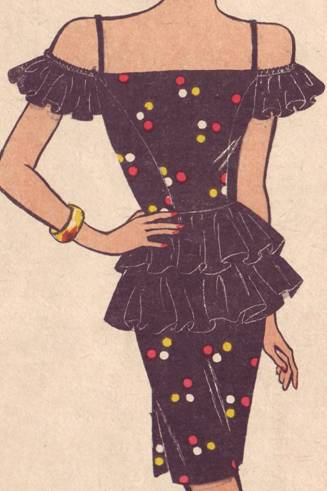 """Готовые цифровые выкройки платья футляр с воланами на плечах.  Выкройка платья  """"Черная бабочка """"."""