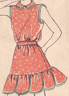 Схема выкройки детского платья