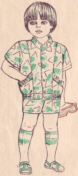 фасон костюма для мальчика дошкольного возраста