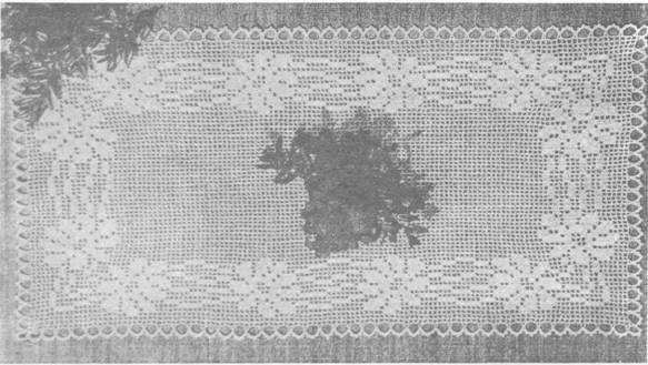 Образцы и схемы вязания техника филейного вязания.