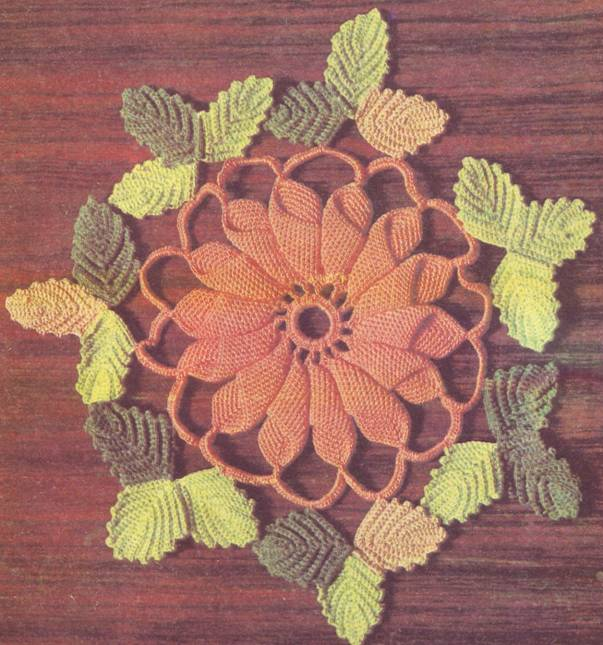 крючком: Салфетки цветные Нитки.  Фото 3.