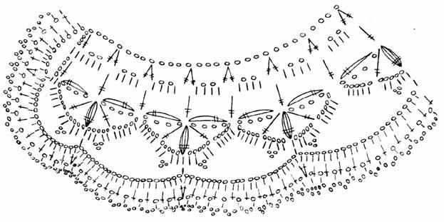 схема вязания воротника