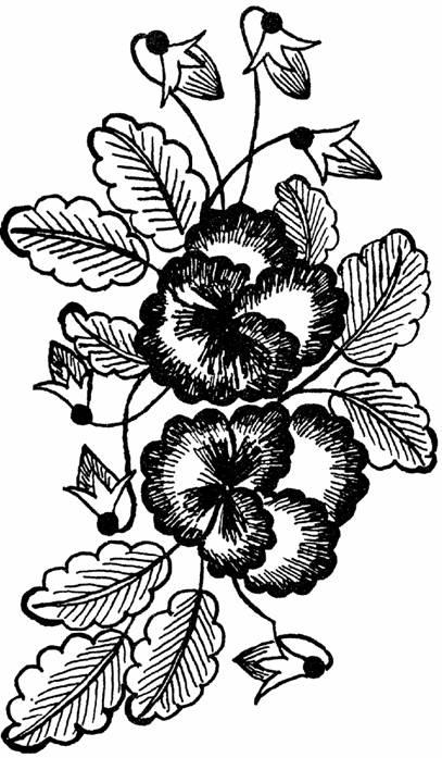 рисунки орнаментов цветов для