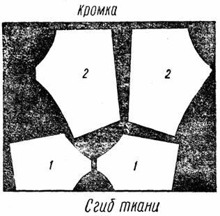 Раскрой пояса-держателя для чулок