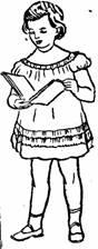 пошив детского платья на круглой кокетке