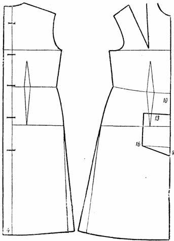 Построение выкройки для халата