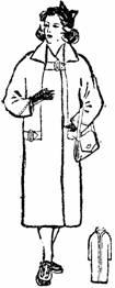 пальто с цельнокроенным рукавом и ластовицей