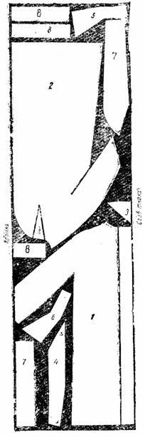 пальто с цельнокроенным воротником и ластовицей