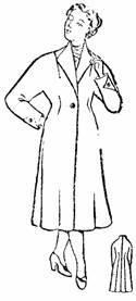 демисезонное пальто полуприлегающей формы с цельнокроенным рукавом