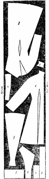 раскрой демисезонного пальто полуприлегающей формы