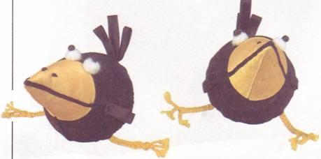 игрушка-подушка ворона и вороненок