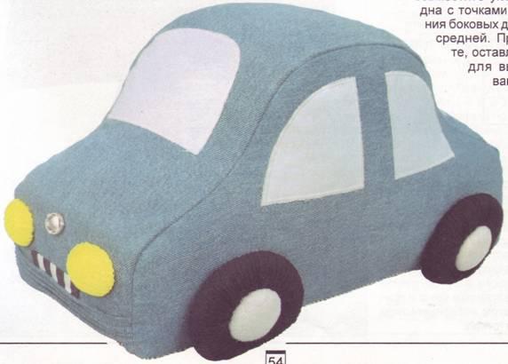 Машина мягкая своими руками 69