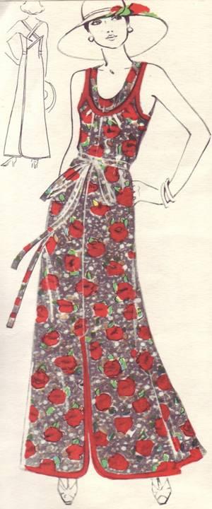 хлопчатобумажное платье-сарафан для летнего отдыха