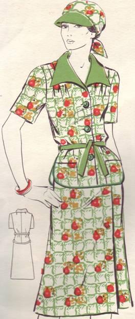 Подробная выкройка платья