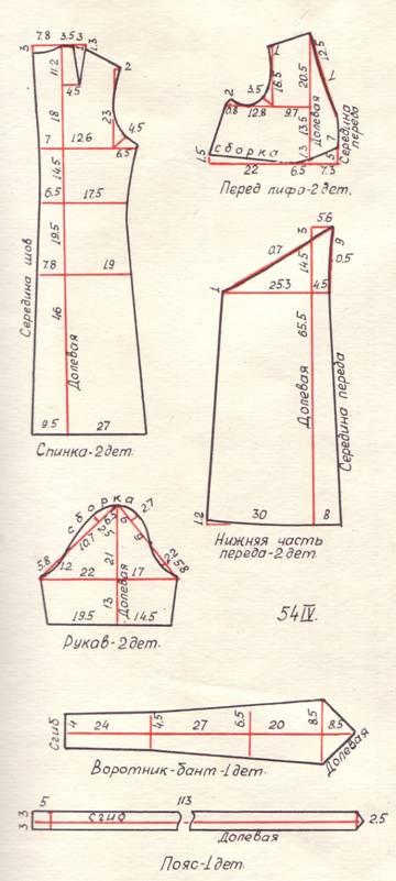 Выкройки платьев 54 размера для начинающих простые выкройки 121