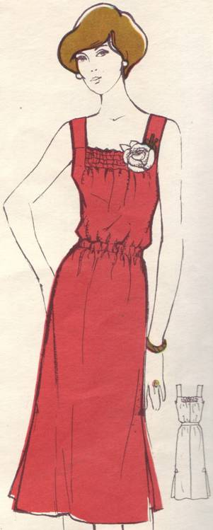фасон и выкройка платья из легкой шелковой ткани