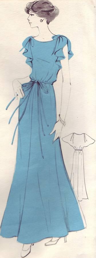 фасон и выкройка платья женственно-романтического стиля