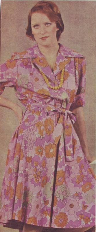 фасон  ивыкройка платья из набивной ткани