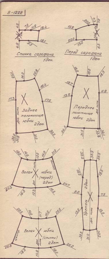 Выкройка шерстяного сарафаны