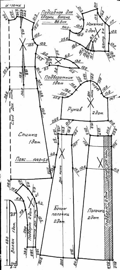 Выкройка длинного шелкового халата